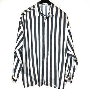 Vintage Gianni Versace striped dress shirt 50 L